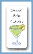 Margarita with salt calling card stickers personalized