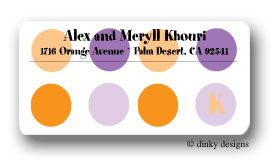 Purple popsicle calling card stickers personalized