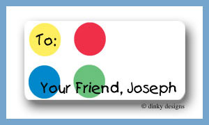 Twister dots calling card stickers personalized