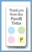 Baby dots calling card stickers personalized
