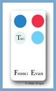 Tommy dots calling card stickers personalized