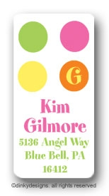 Summer dots calling card stickers personalized