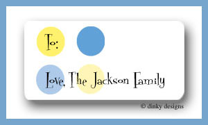 Nautical dots calling card stickers personalized