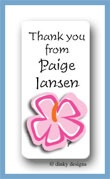 Tropicana calling card stickers personalized