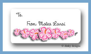 Tropicana string calling card stickers personalized