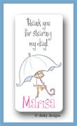 Umbrella bride calling card stickers personalized