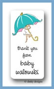 Mommy shower calling card stickers personalized