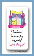 Princess bouncy house calling card stickers personalized