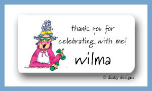 Workout Wilma calling card stickers personalized