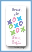 Tic-tac-toe calling card stickers personalized