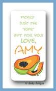 Papaya calling card stickers personalized