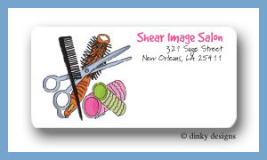 Stylist stuff calling card stickers personalized