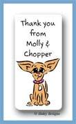 Chi-chi the Chihuahua calling card stickers personalized