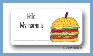 Double  calling card stickers personalized