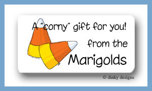 Candy corns calling card stickers personalized