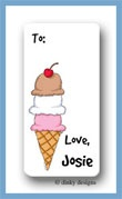 Triple dip calling card stickers personalized