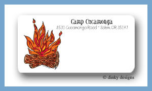 Campfire calling card stickers personalized