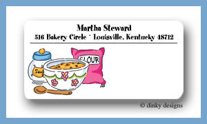 Baking goods calling card stickers personalized