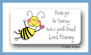 Bee-mine calling card stickers personalized