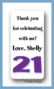 Forever 21 calling card stickers personalized
