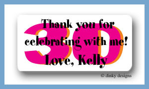 Flirty 30 calling card stickers personalized