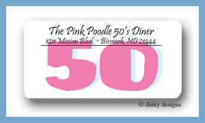 Nifty 50 calling card stickers personalized