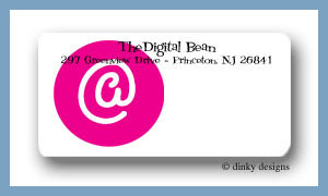 At peace calling card stickers personalized