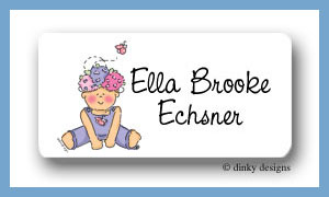 Hannah Bloom calling card stickers personalized