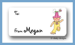 Tilly Bloom calling card stickers personalized