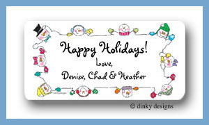 Meet the Flakes, border calling card stickers personalized