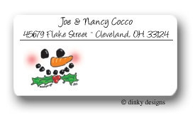 Happy Frosty calling card stickers personalized
