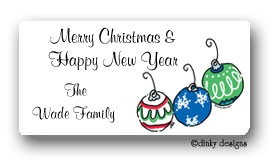 Deck the halls calling card stickers personalized