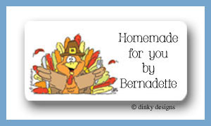 Thomas turkey calling card stickers personalized