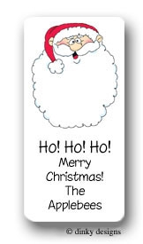 Jolly Ol' St. Nick calling card stickers personalized