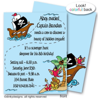 Pirates quest flat notes, personalized