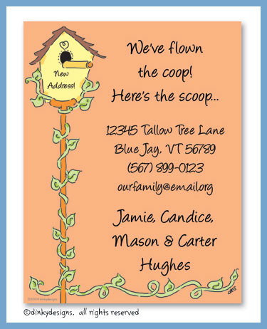 House for birds flat notes, personalized