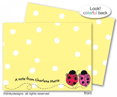 Love bugs flat notes, personalized