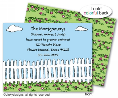 Picket pasture flat notes, personalized