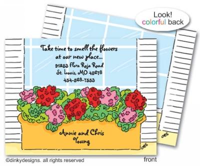 Window box flat notes, personalized