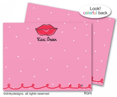 Dolly kisses flat notes, personalized
