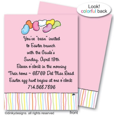 Bean invited flat notes, personalized