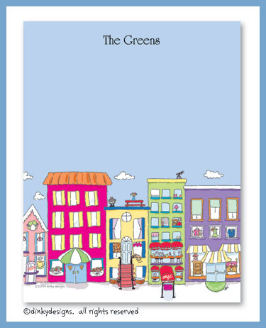 City scene flat notes, personalized
