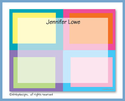 Boxy flat notes, personalized