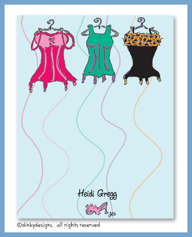 Corset line flat notes, personalized