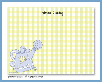 Watering can flat notes, personalized