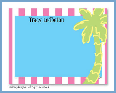 Pink palm flat notes, personalized