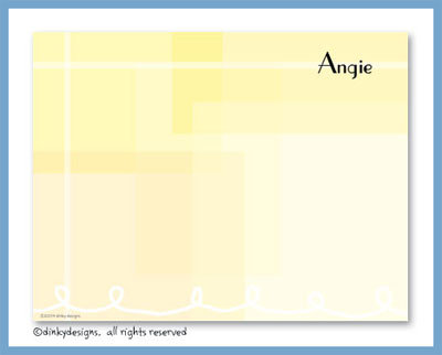 Yellow mirage flat notes, personalized
