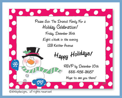 Snowman flat notes, personalized