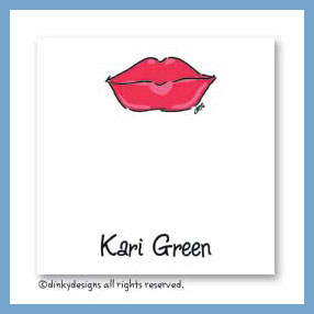 Dolly kisses gift cards, personalized