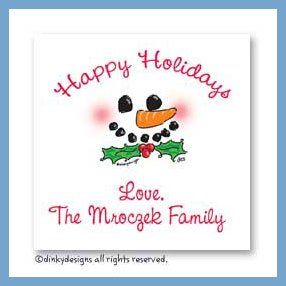 Hats off, Frosty! gift cards, personalized